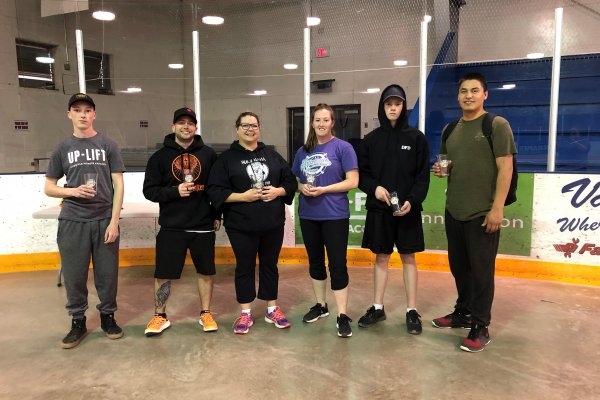 3rd Place (with our own Event Coordinator playing!) - WIT (Wifflers in Training)